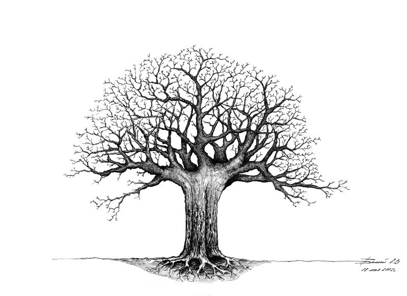 Деревья умирают стоя графика 297х420