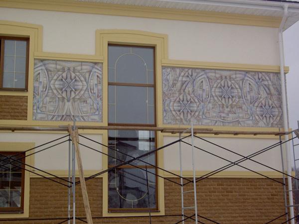Дизайн вставки на фасадах