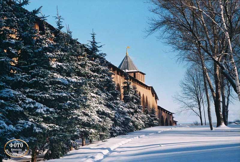 Зима в нижегородском кремле