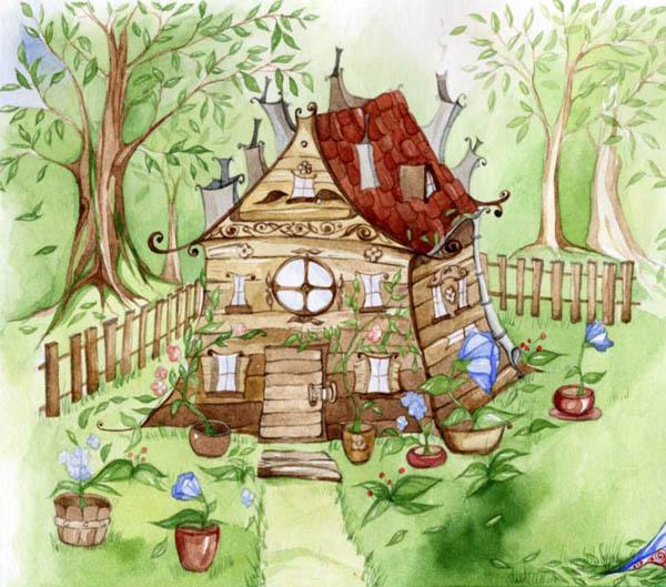 дом гнома рисунки