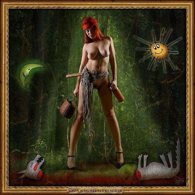 красная шапочка и серый волк- (кликните по изображению, чтобы открыть его в