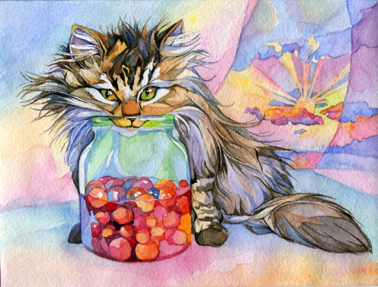 Кот в банке варенья